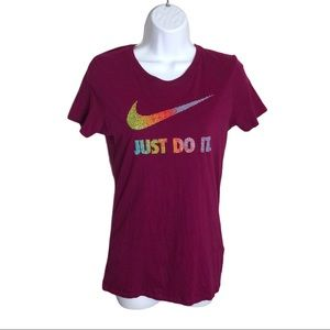 """Nike """"Just Do It"""" Pink T-shirt Size M"""